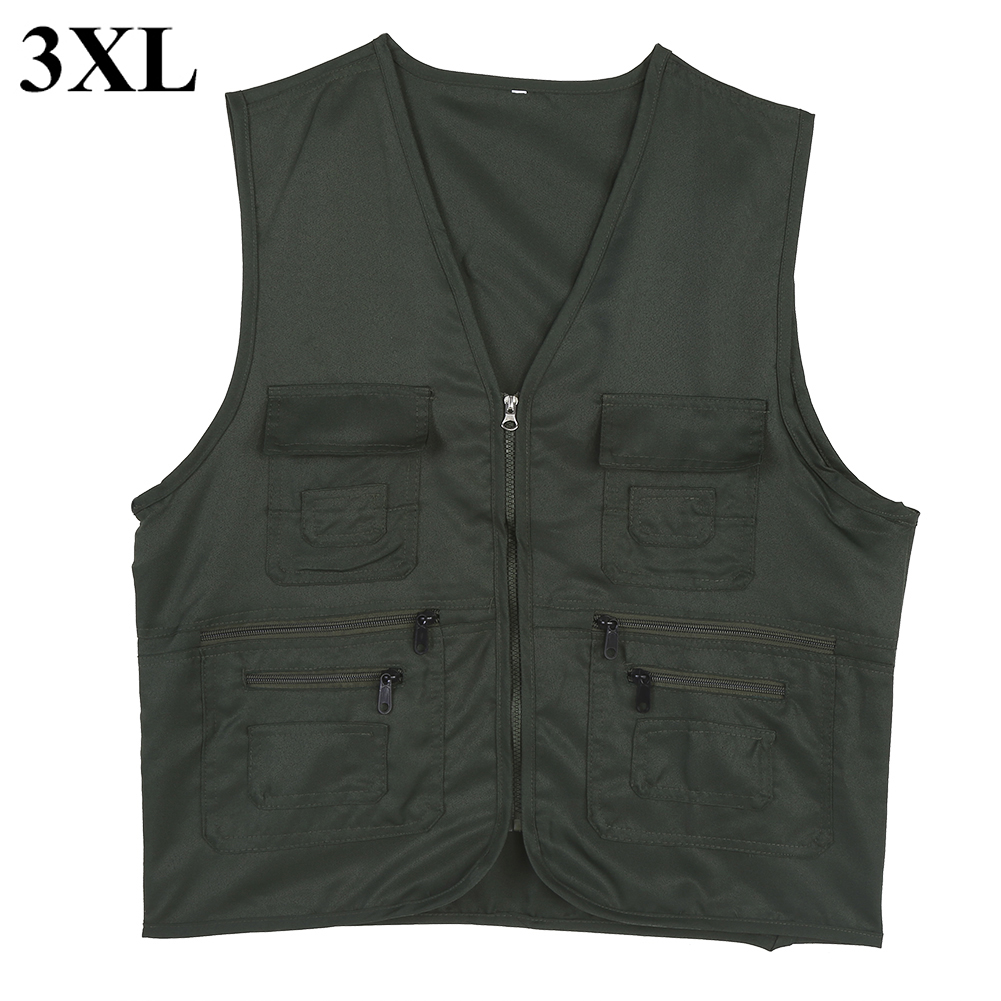 Men-Outdoor-Multi-Pocket-Vest-Travelers-Fly-Fishing-Photography-Quick-Dry-Jacket thumbnail 45