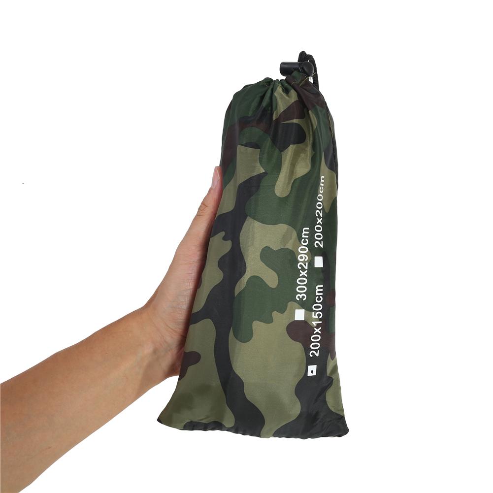 Portable-Bache-Anti-pluie-Anti-UV-Toile-de-Tente-Tarp-Abri-Camping-Camo miniature 6