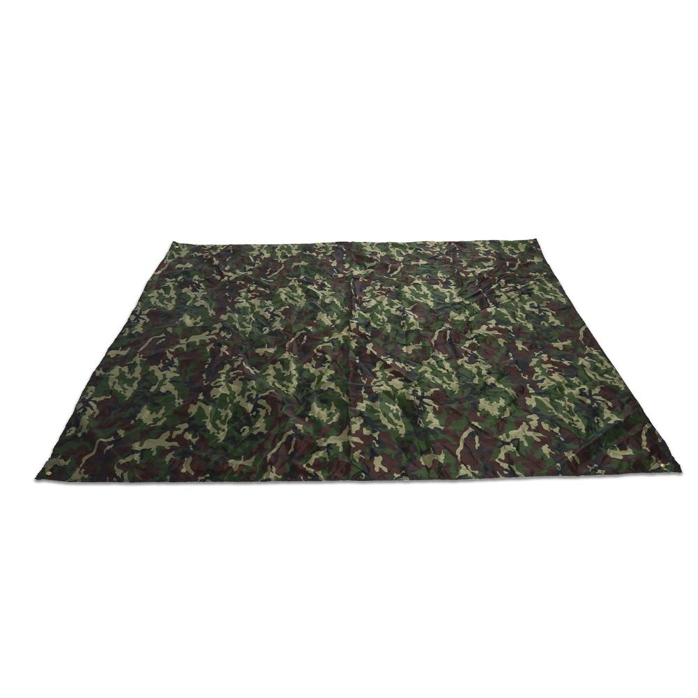 Portable-Bache-Anti-pluie-Anti-UV-Toile-de-Tente-Tarp-Abri-Camping-Camo miniature 9