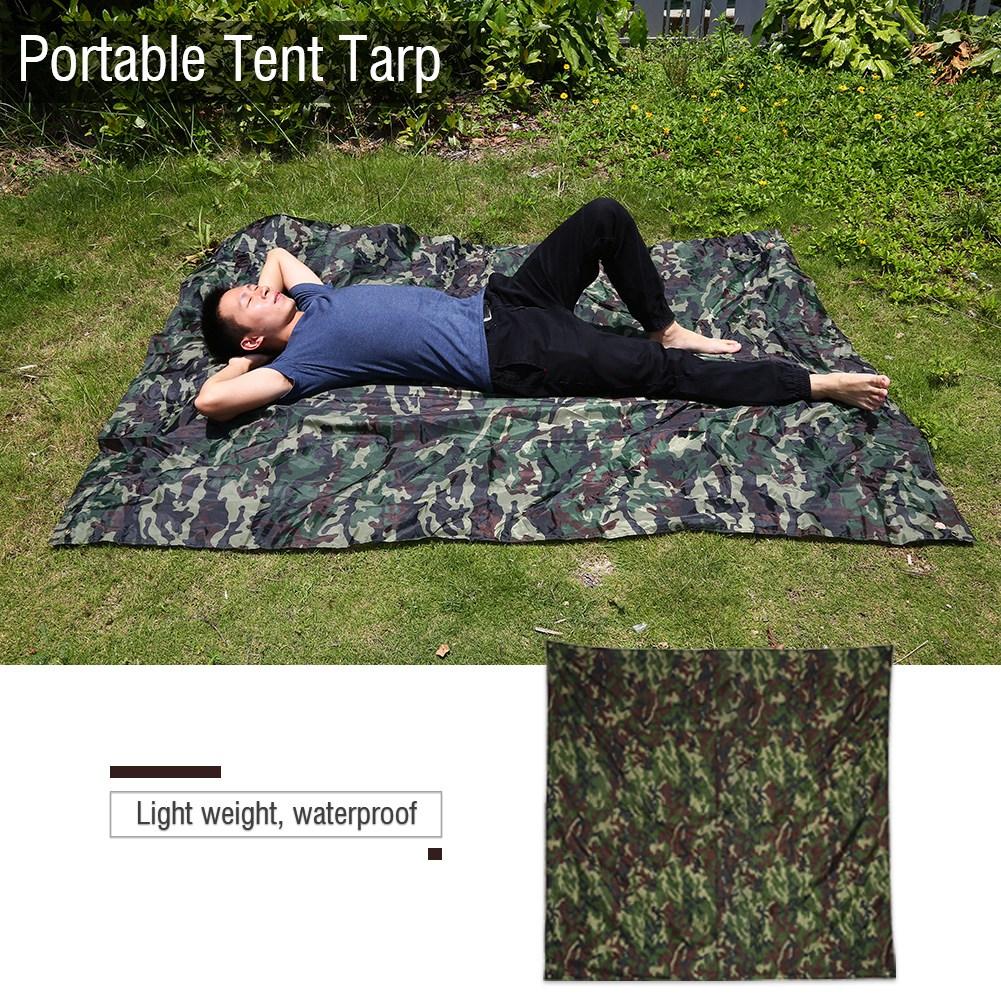 Portable-Bache-Anti-pluie-Anti-UV-Toile-de-Tente-Tarp-Abri-Camping-Camo miniature 10