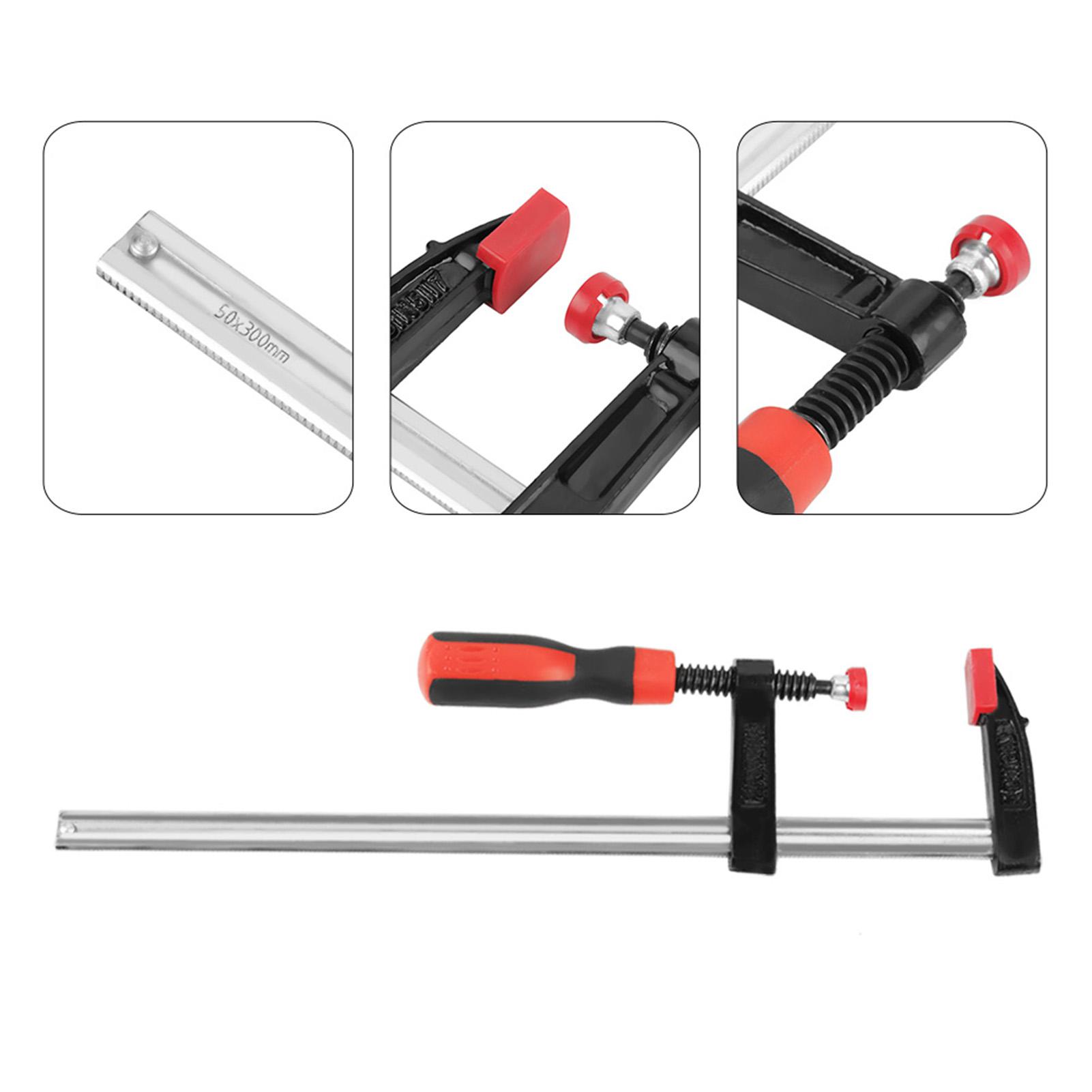 4x 50x300mm F Woodworking Clip Quick Plastic Grip Clamp Wood Carpenter Vice Tool