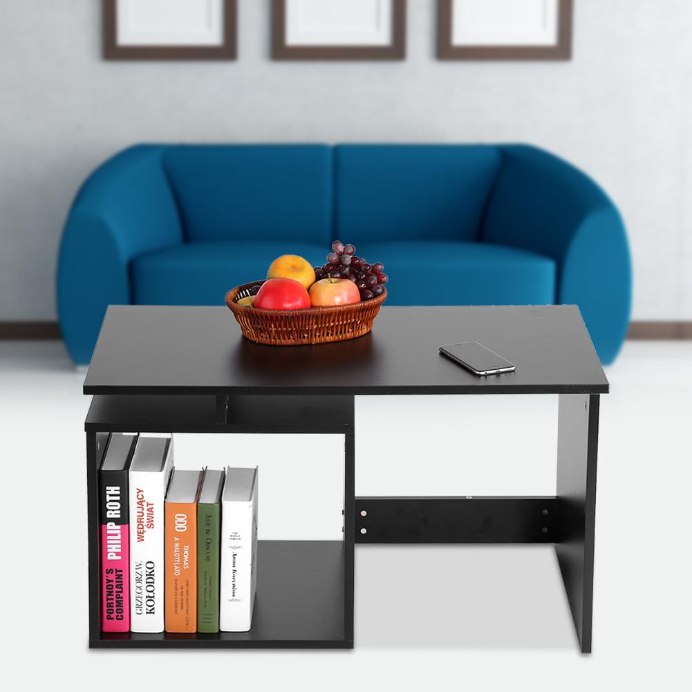 Modern-MDF-Rectangular-Coffee-Tea-Table-w-Storage-Shelf-Living-Room-Furniture thumbnail 14