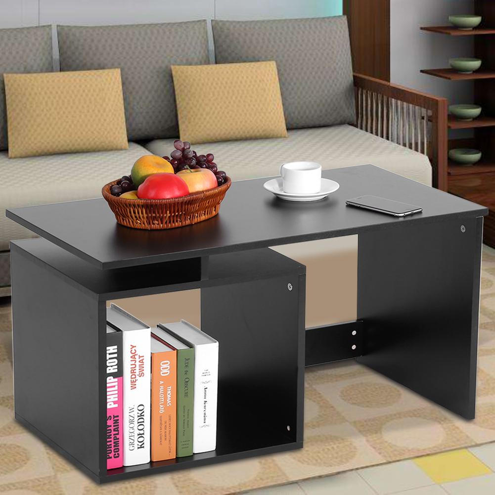 Modern-MDF-Rectangular-Coffee-Tea-Table-w-Storage-Shelf-Living-Room-Furniture thumbnail 15