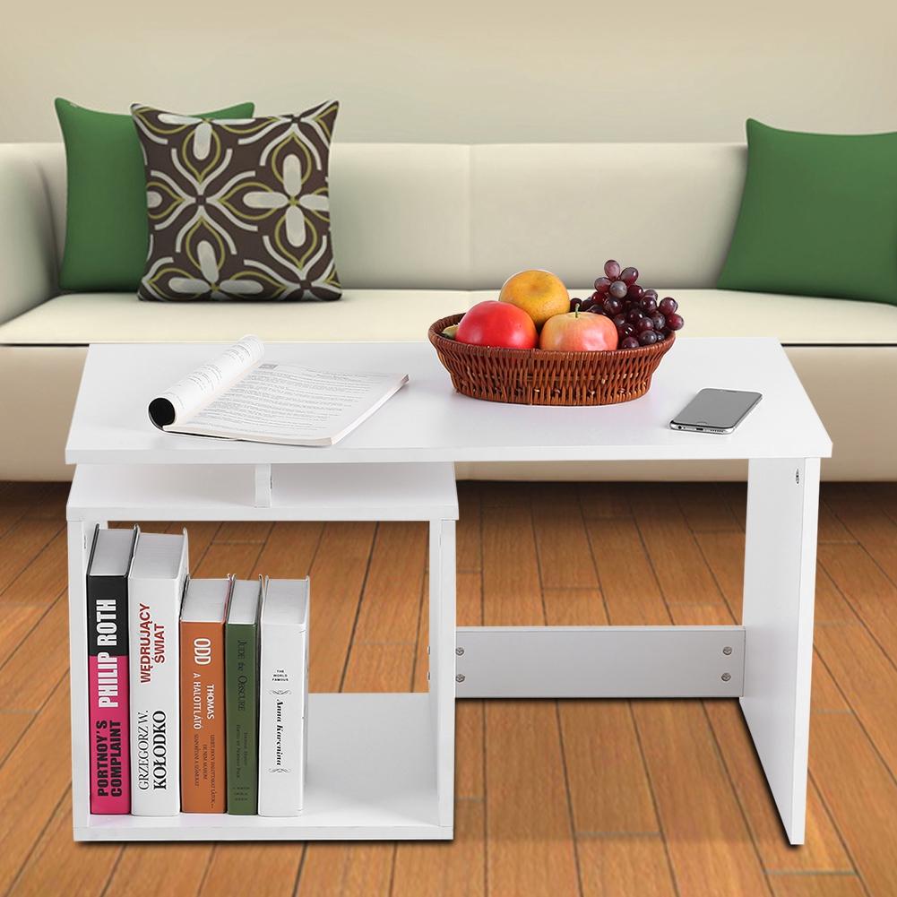 Modern-MDF-Rectangular-Coffee-Tea-Table-w-Storage-Shelf-Living-Room-Furniture thumbnail 17