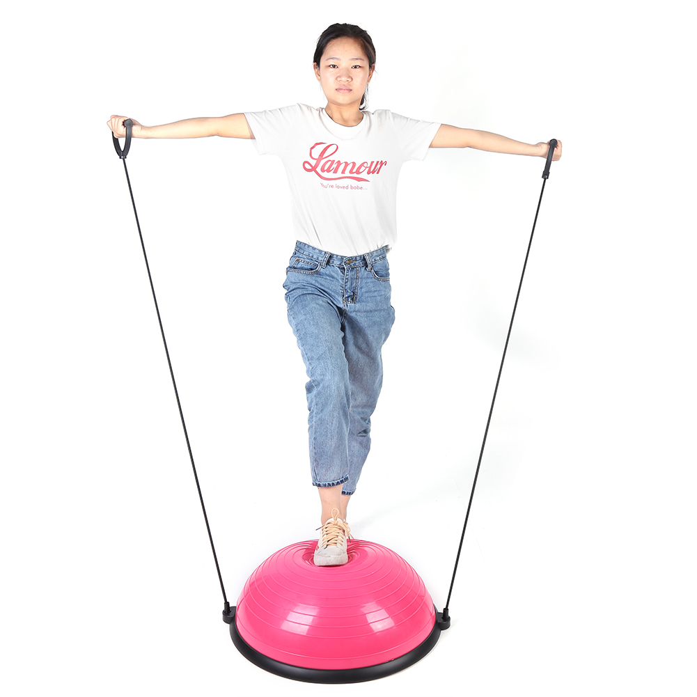 24-034-Yoga-Ball-Balance-Trainer-Strength-Exercise-Yoga-Fitness-Workout-with-Pump thumbnail 14