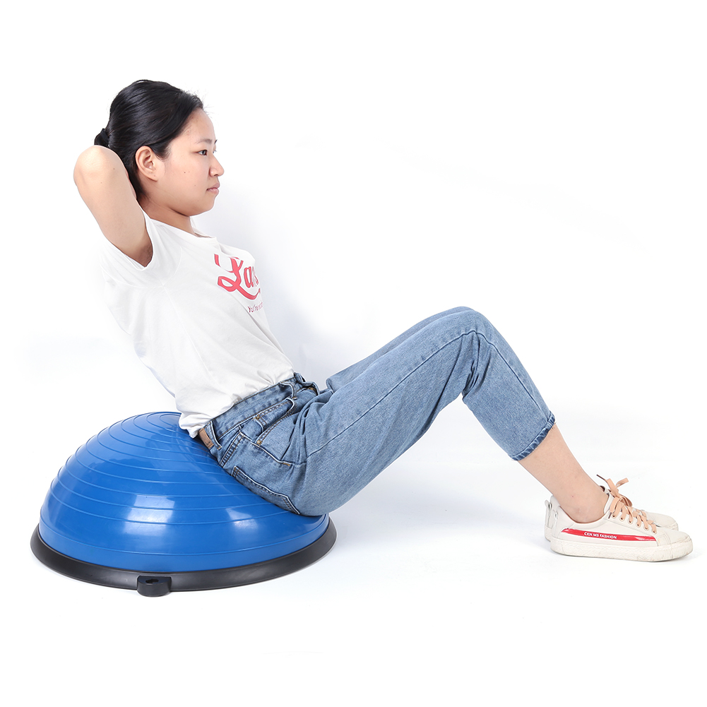 24-034-Yoga-Ball-Balance-Trainer-Strength-Exercise-Yoga-Fitness-Workout-with-Pump thumbnail 22