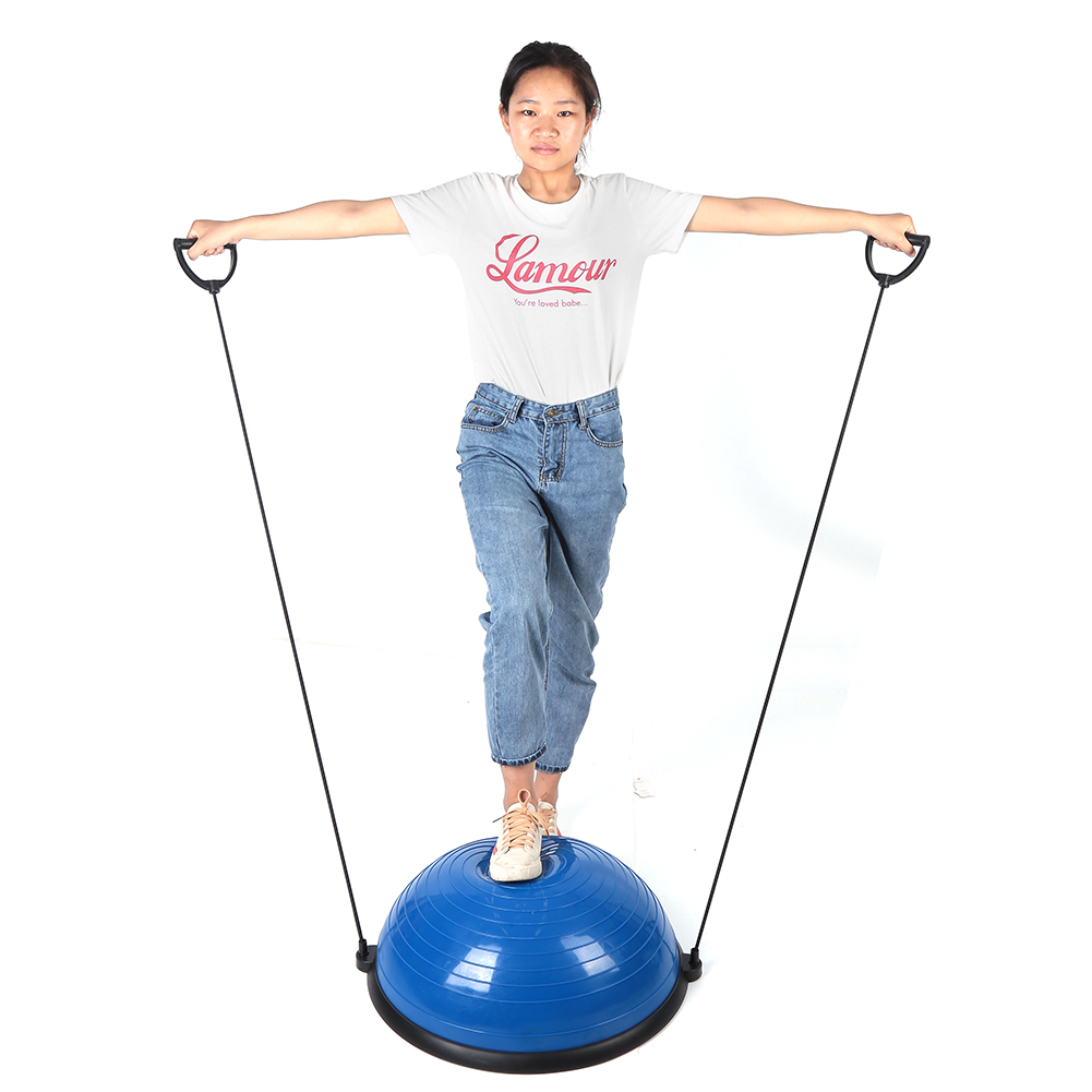 24-034-Yoga-Ball-Balance-Trainer-Strength-Exercise-Yoga-Fitness-Workout-with-Pump thumbnail 24