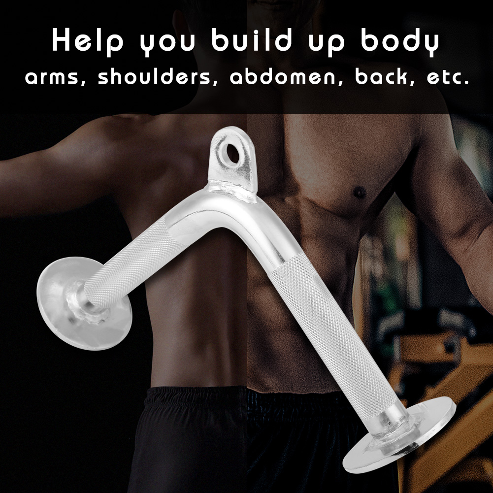 Home-Gym-Attachments-Exercise-Machine-Triceps-Rope-Cable-V-Pull-Up-Bar-D-Handle thumbnail 65