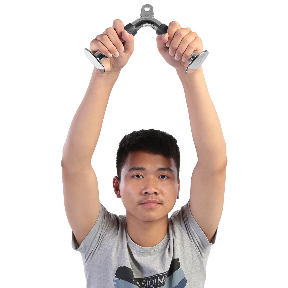 Home-Gym-Cable-Attachment-Exercise-Machine-Tricep-Rope-V-Pull-Up-Bar-D-Handle-US thumbnail 63
