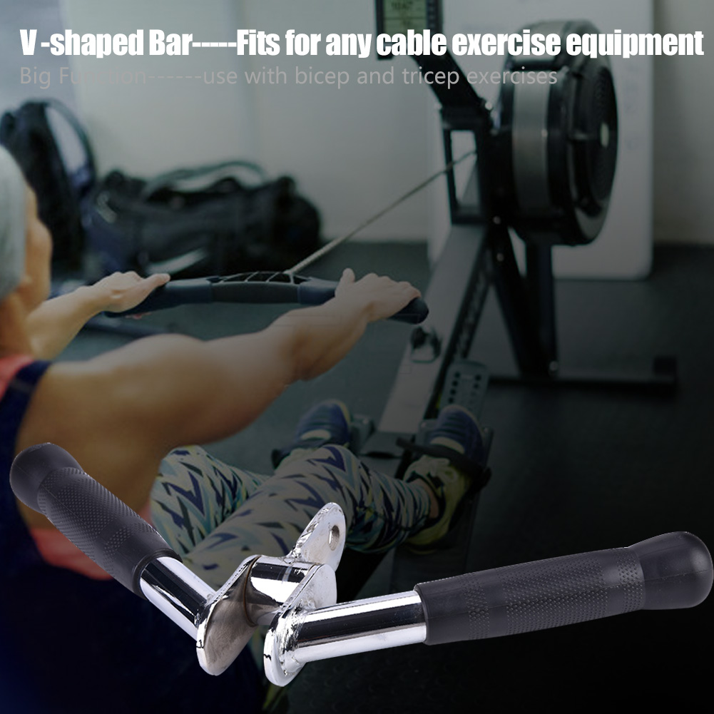 Home-Gym-Attachments-Exercise-Machine-Triceps-Rope-Cable-V-Pull-Up-Bar-D-Handle thumbnail 32
