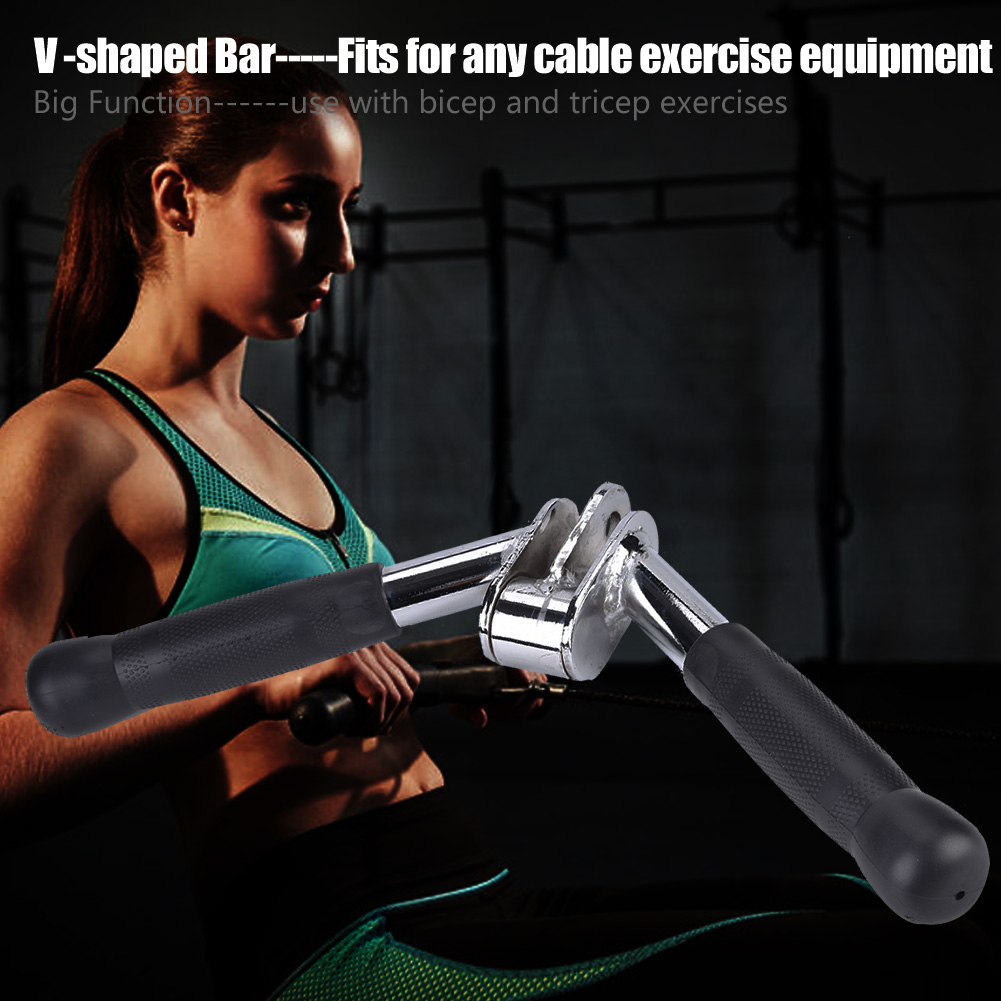 Home-Gym-Cable-Attachment-Exercise-Machine-Tricep-Rope-V-Pull-Up-Bar-D-Handle-US thumbnail 32