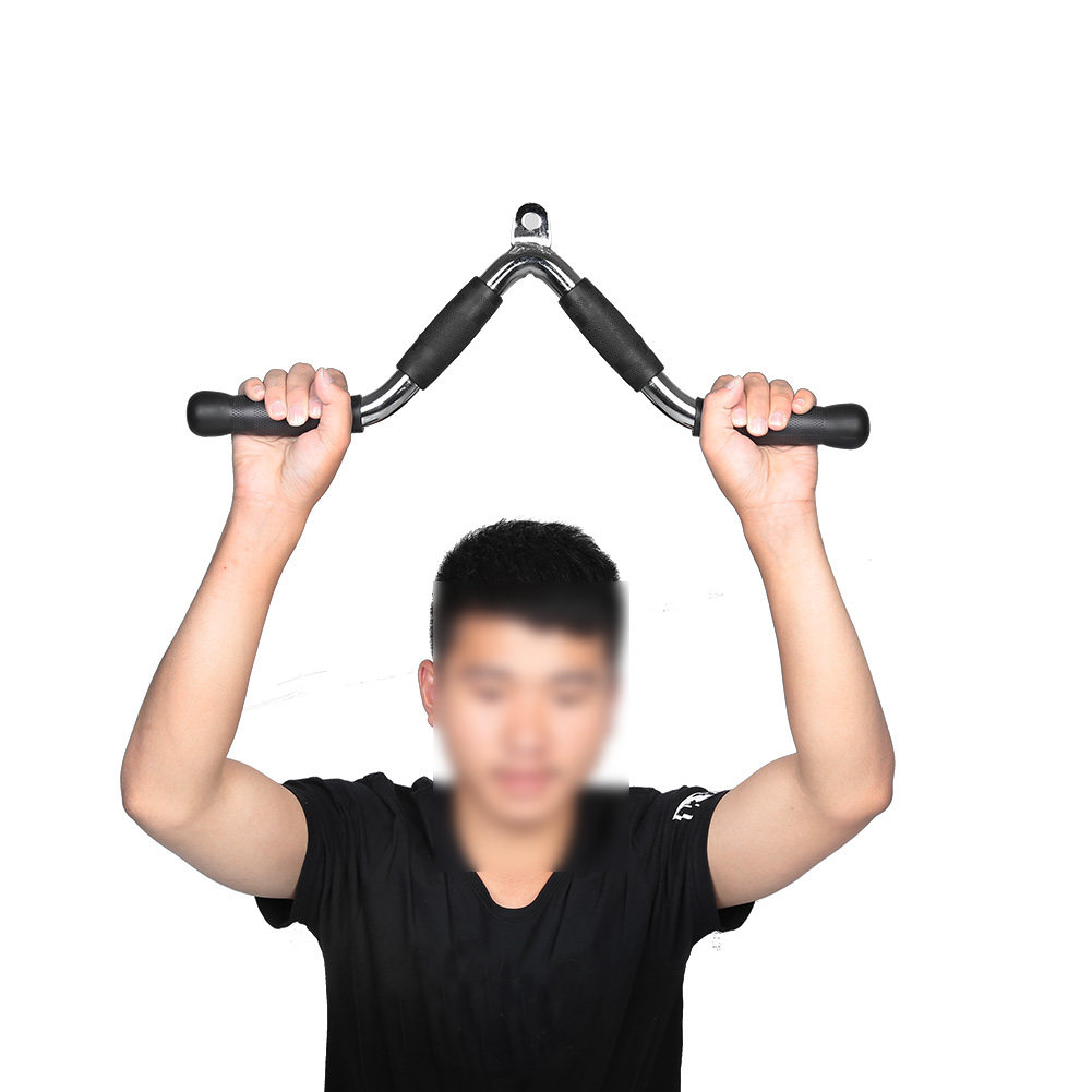 Home-Gym-Cable-Attachment-Exercise-Machine-Tricep-Rope-V-Pull-Up-Bar-D-Handle-US thumbnail 46