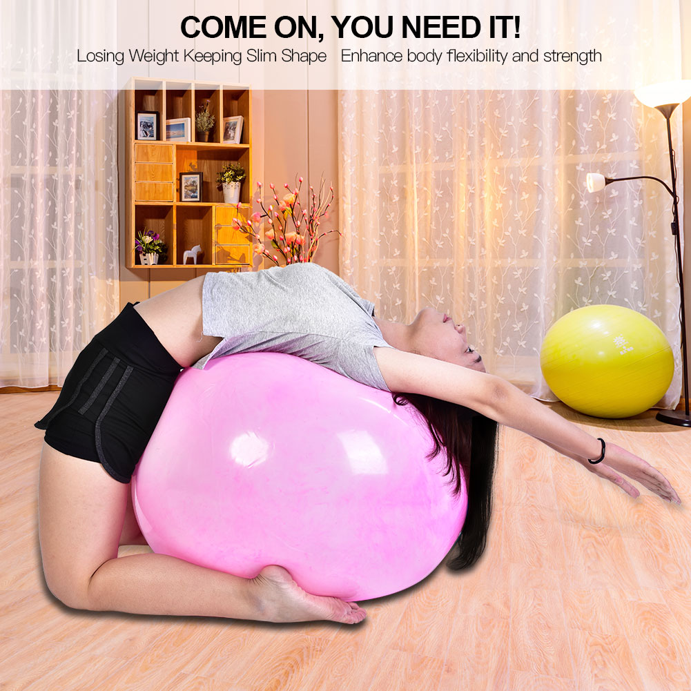 Anti-burst-Fitness-Gym-Yoga-Balance-Strength-Stability-Exercise-Ball-Air-Pump thumbnail 21