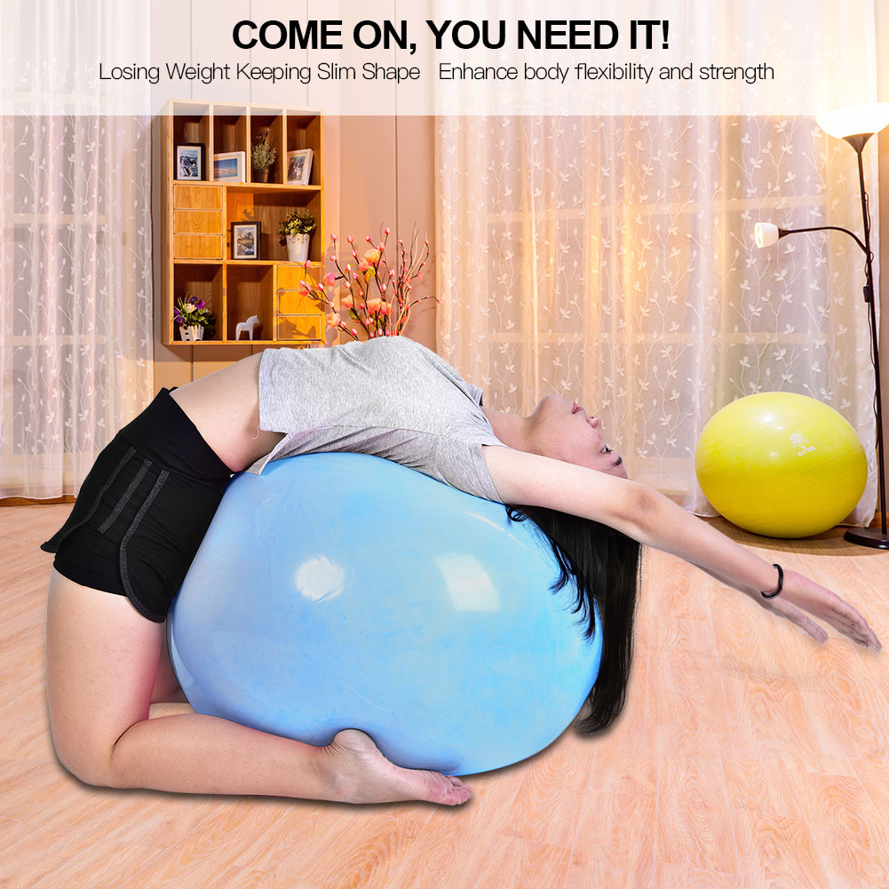 Anti-burst-Fitness-Gym-Yoga-Balance-Strength-Stability-Exercise-Ball-Air-Pump thumbnail 24