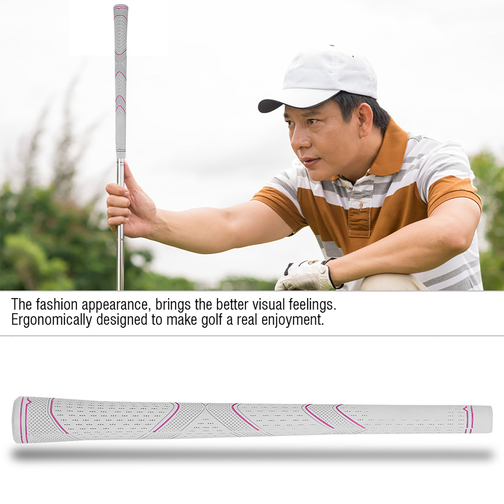 NEW-13pcs-set-Standard-Golf-Club-Grip-Soft-Rubber-Handle-Cover-Replacement-USA thumbnail 15