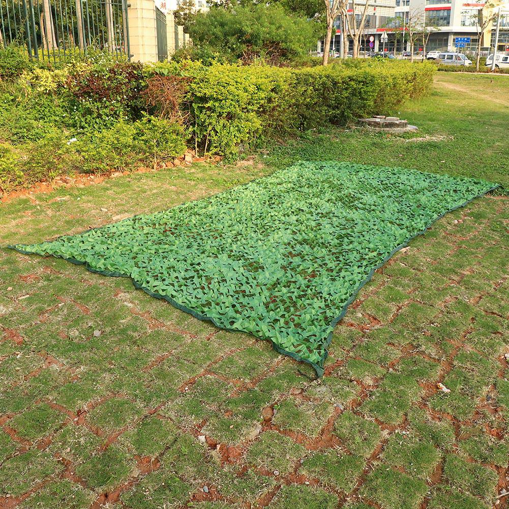 Woodland-Camouflage-Camo-Military-Net-Hide-Netting-Cover-Camping-Hunting-Shelter thumbnail 13