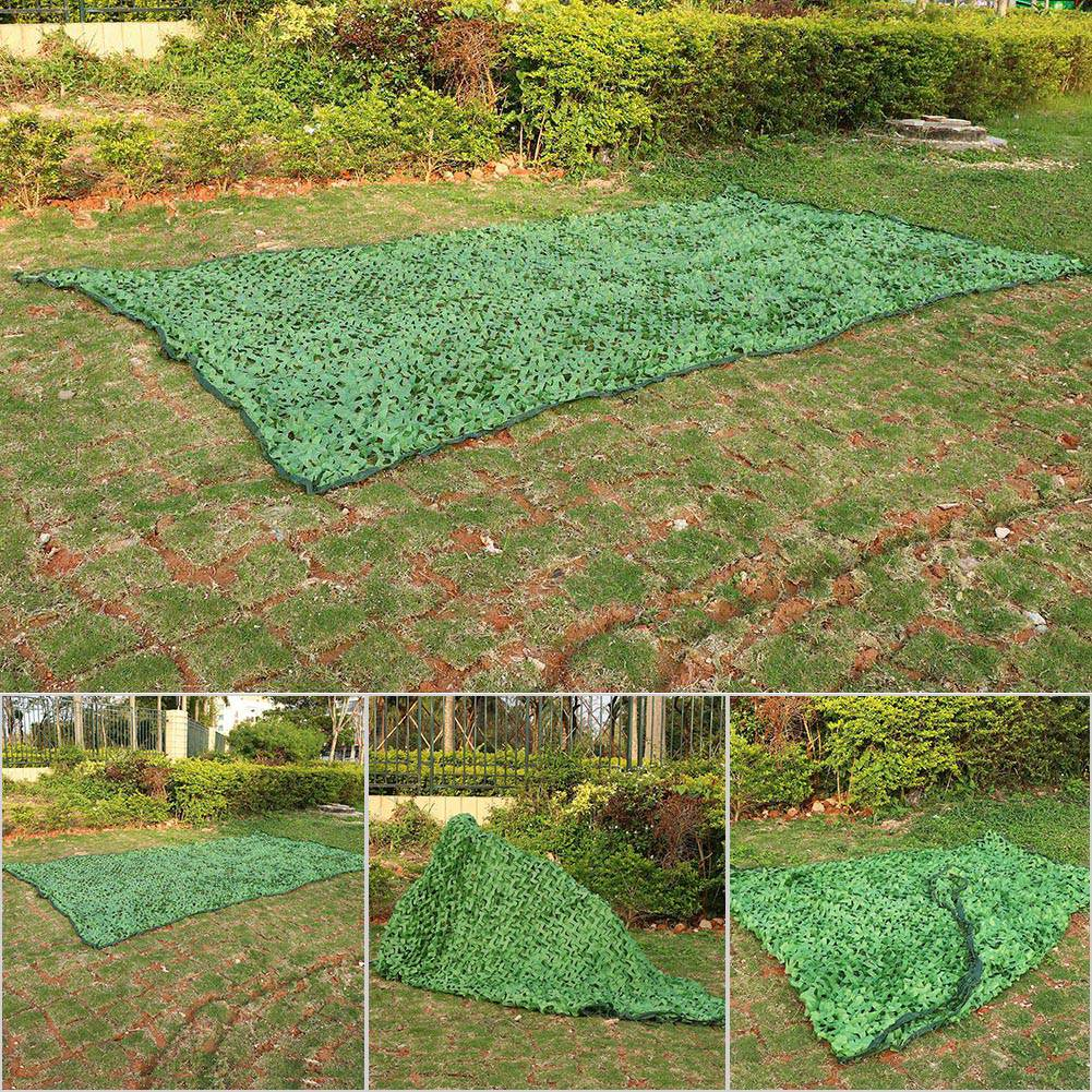 Woodland-Camouflage-Camo-Military-Net-Hide-Netting-Cover-Camping-Hunting-Shelter thumbnail 7