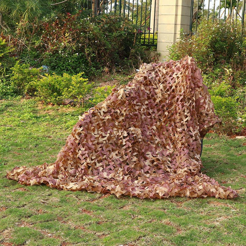 Woodland-Camouflage-Camo-Military-Net-Hide-Netting-Cover-Camping-Hunting-Shelter thumbnail 21