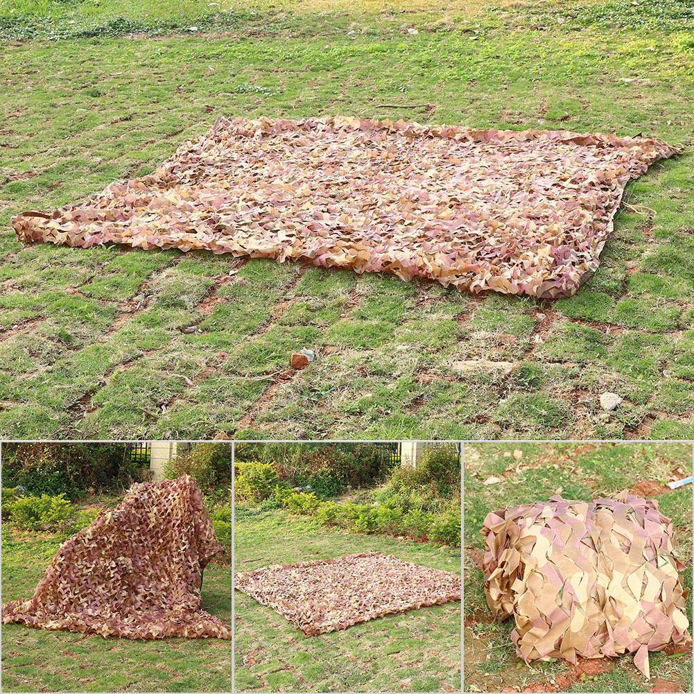 Woodland-Camouflage-Camo-Military-Net-Hide-Netting-Cover-Camping-Hunting-Shelter thumbnail 29