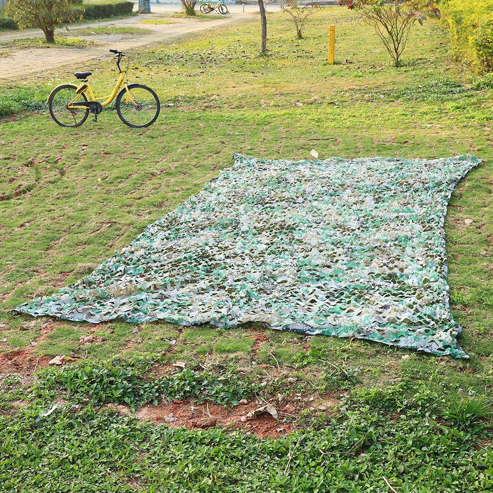 Woodland-Camouflage-Camo-Military-Net-Hide-Netting-Cover-Camping-Hunting-Shelter thumbnail 36