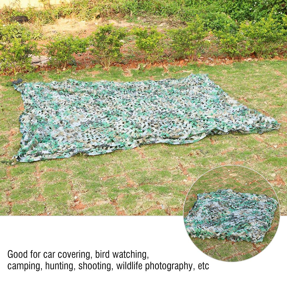 Woodland-Camouflage-Camo-Military-Net-Hide-Netting-Cover-Camping-Hunting-Shelter thumbnail 31