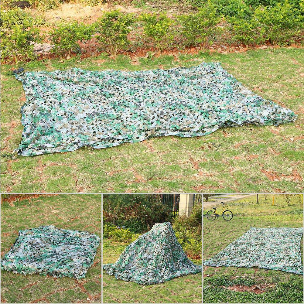 Woodland-Camouflage-Camo-Military-Net-Hide-Netting-Cover-Camping-Hunting-Shelter thumbnail 149