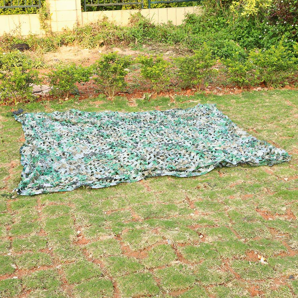 Woodland-Camouflage-Camo-Military-Net-Hide-Netting-Cover-Camping-Hunting-Shelter thumbnail 106