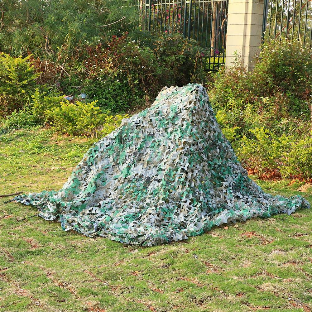 Woodland-Camouflage-Camo-Military-Net-Hide-Netting-Cover-Camping-Hunting-Shelter thumbnail 105