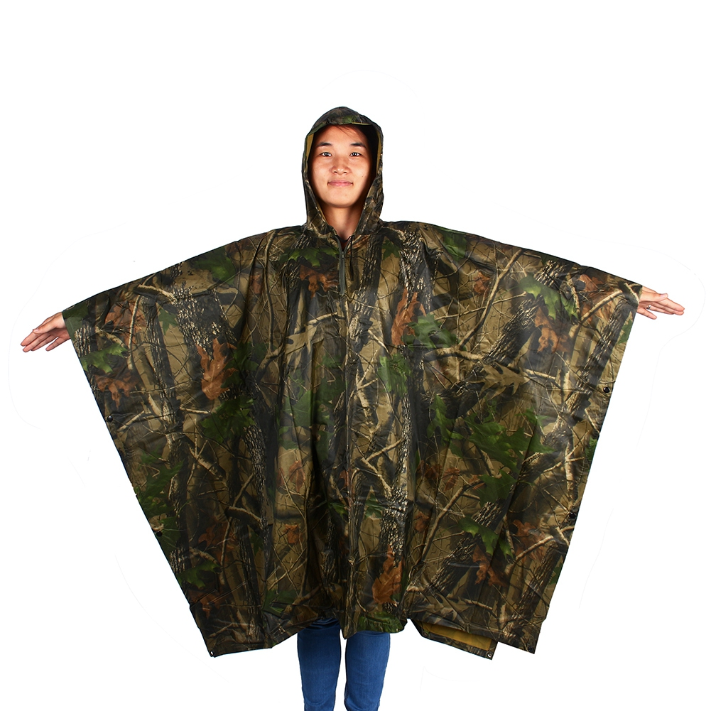 Outdoor Camping Backpack Rain Cover Tarp One-Piece Raincoat Poncho Cape CB