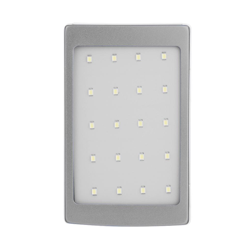 DIY-Caja-20000mAh-Cargador-Solar-Banco-Energia-Dual-USB-LED-Linterna-SIN-Bateria