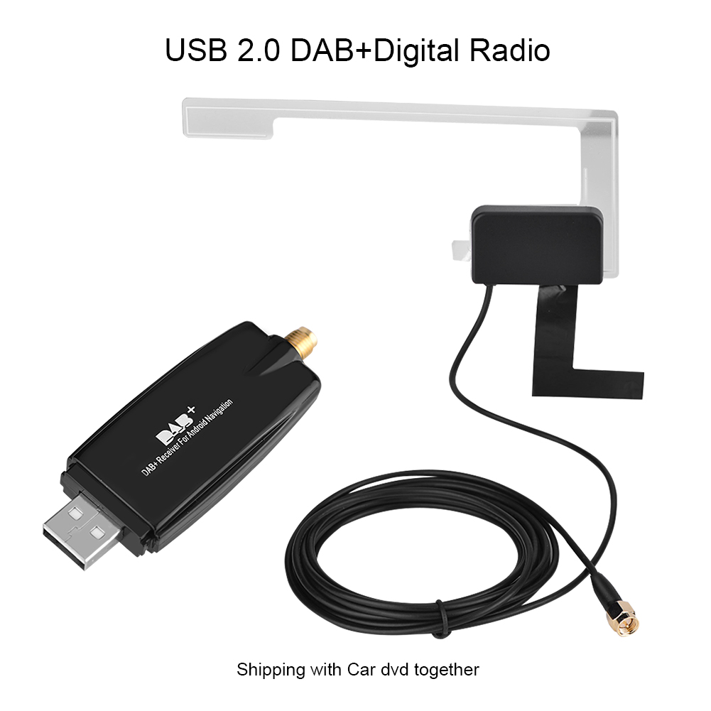 auto usb dab receiver empf nger adapter mit antenne f r. Black Bedroom Furniture Sets. Home Design Ideas