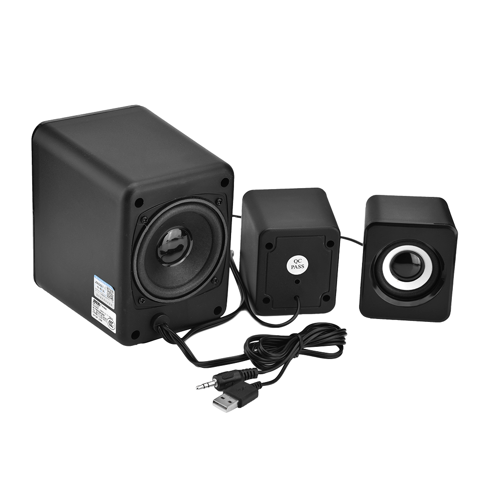 mini usb 2 1 kombination lautsprecher bass musik subwoofer. Black Bedroom Furniture Sets. Home Design Ideas