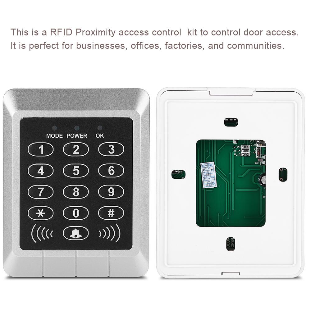 10 Keys Magnetic Electric Door Lock RFID Access Control ID Card ...