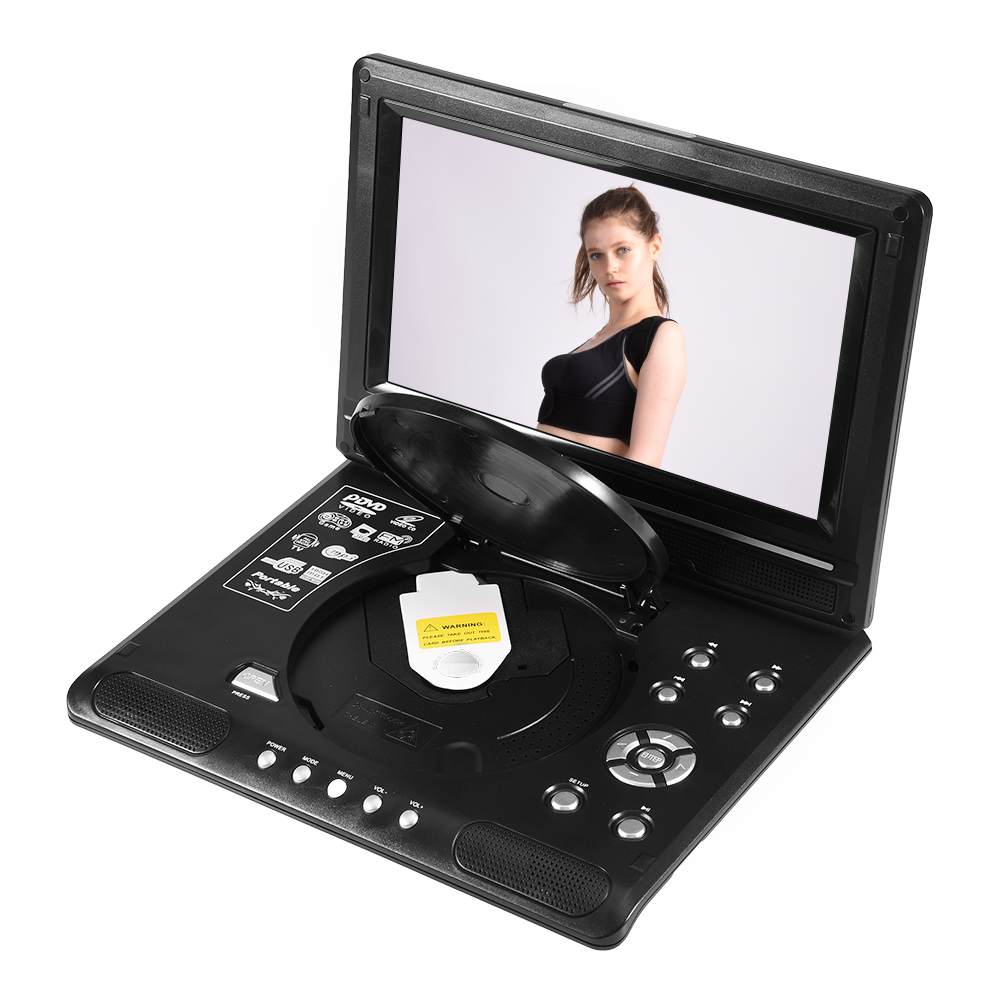 9 8 zoll tragbarer dvd player 270 drehbar gamepad remote. Black Bedroom Furniture Sets. Home Design Ideas