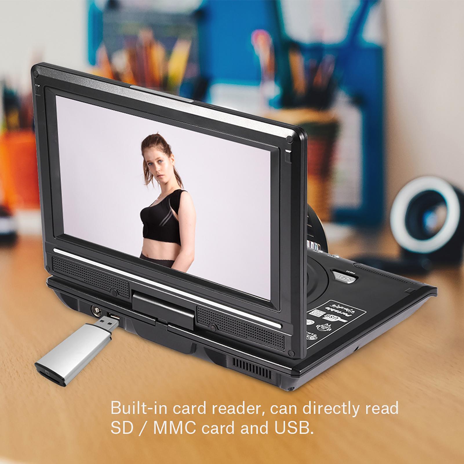 9 8 zoll drehbarer dvd player 270 usb sd av auto. Black Bedroom Furniture Sets. Home Design Ideas