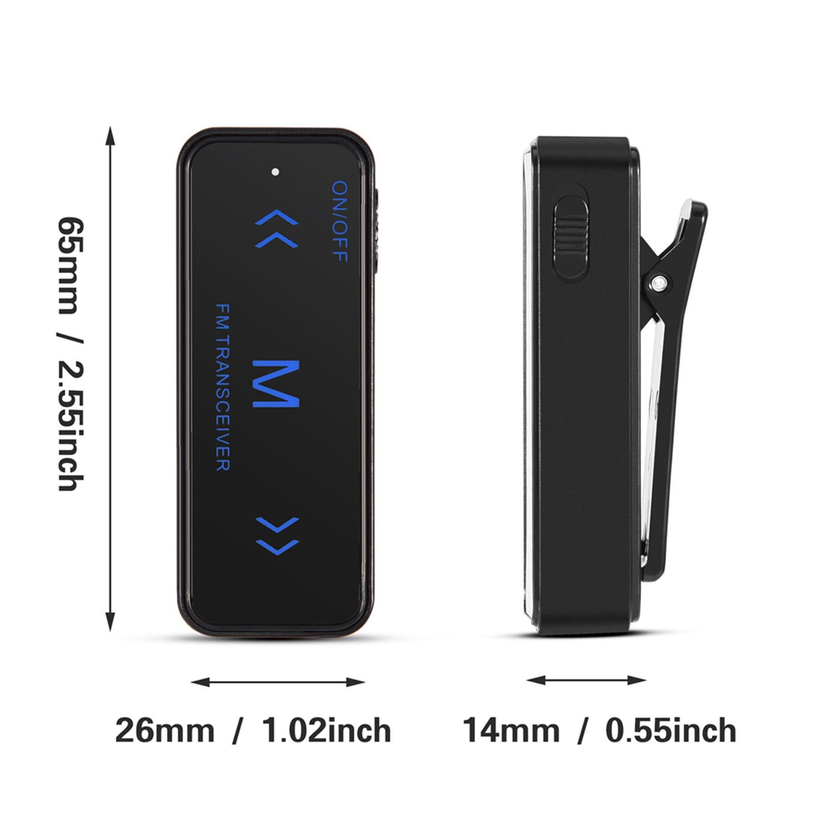 2PCS-LED-Mini-Walkie-Talkie-Interfono-2-Vias-Radio-Auricular-amp-Microfono-USB