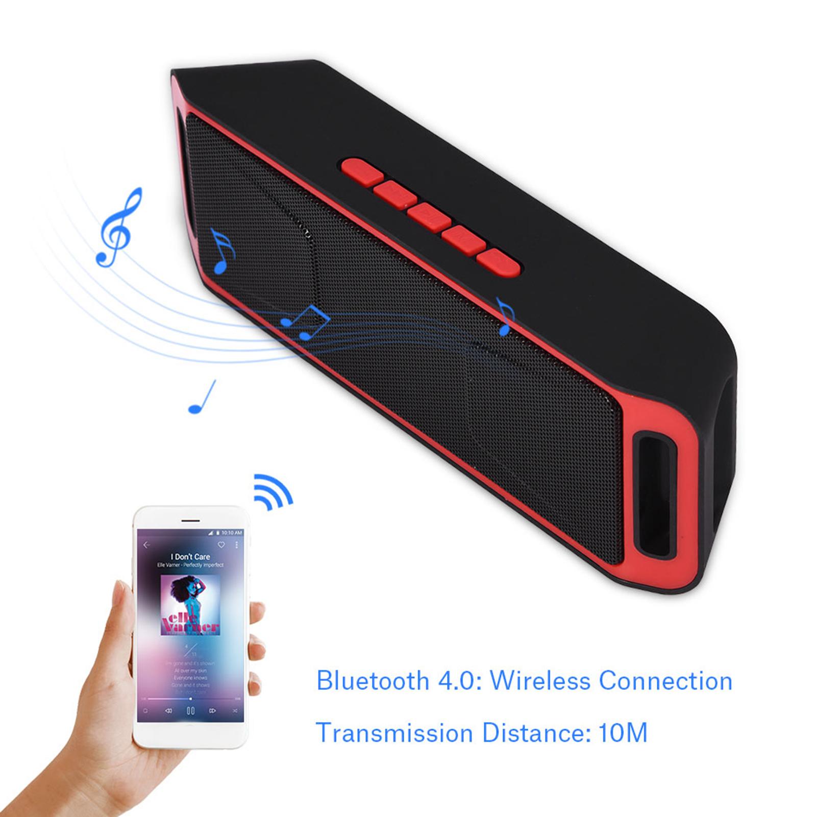 Bluetooth-Haut-parleur-Stereo-Sans-Fil-Enceinte-TF-Card-USB-AUX-FM-Radio-Mic