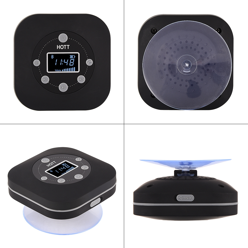 hott mini wireless bluetooth lautsprecher fm radio wasserdicht f r badezimmer ebay. Black Bedroom Furniture Sets. Home Design Ideas