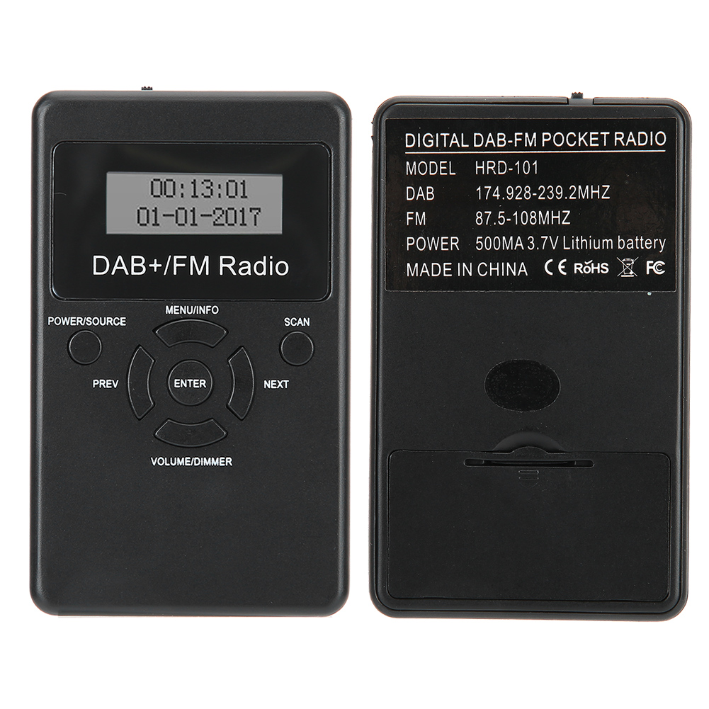 portable mini dab dab fm lcd digital radio bolsillo dab. Black Bedroom Furniture Sets. Home Design Ideas