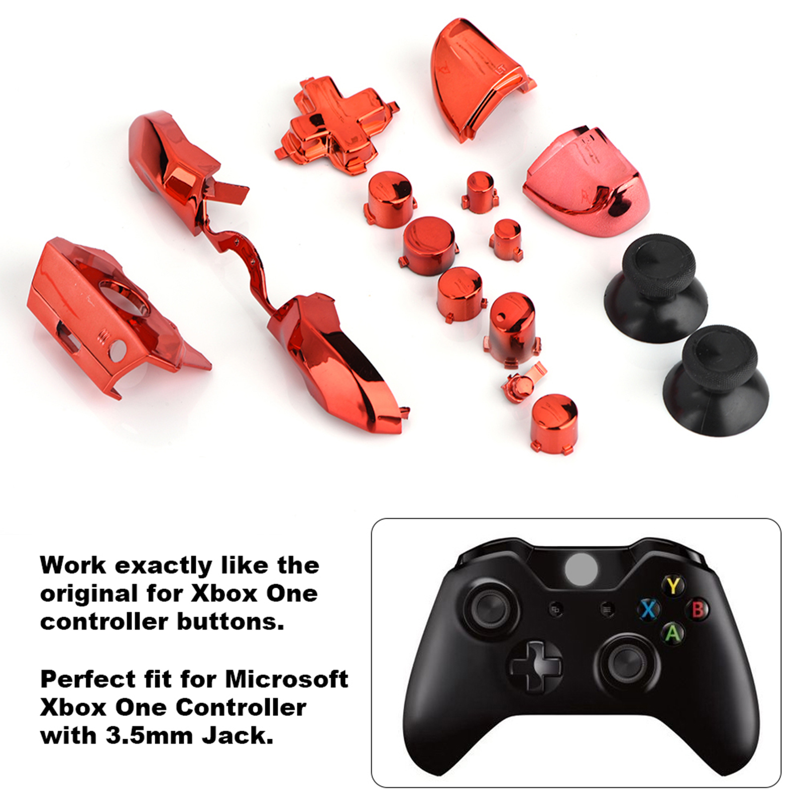 Details about Pro Bullet Buttons Kit Replacement Parts Set for Microsoft  Xbox One Controller S
