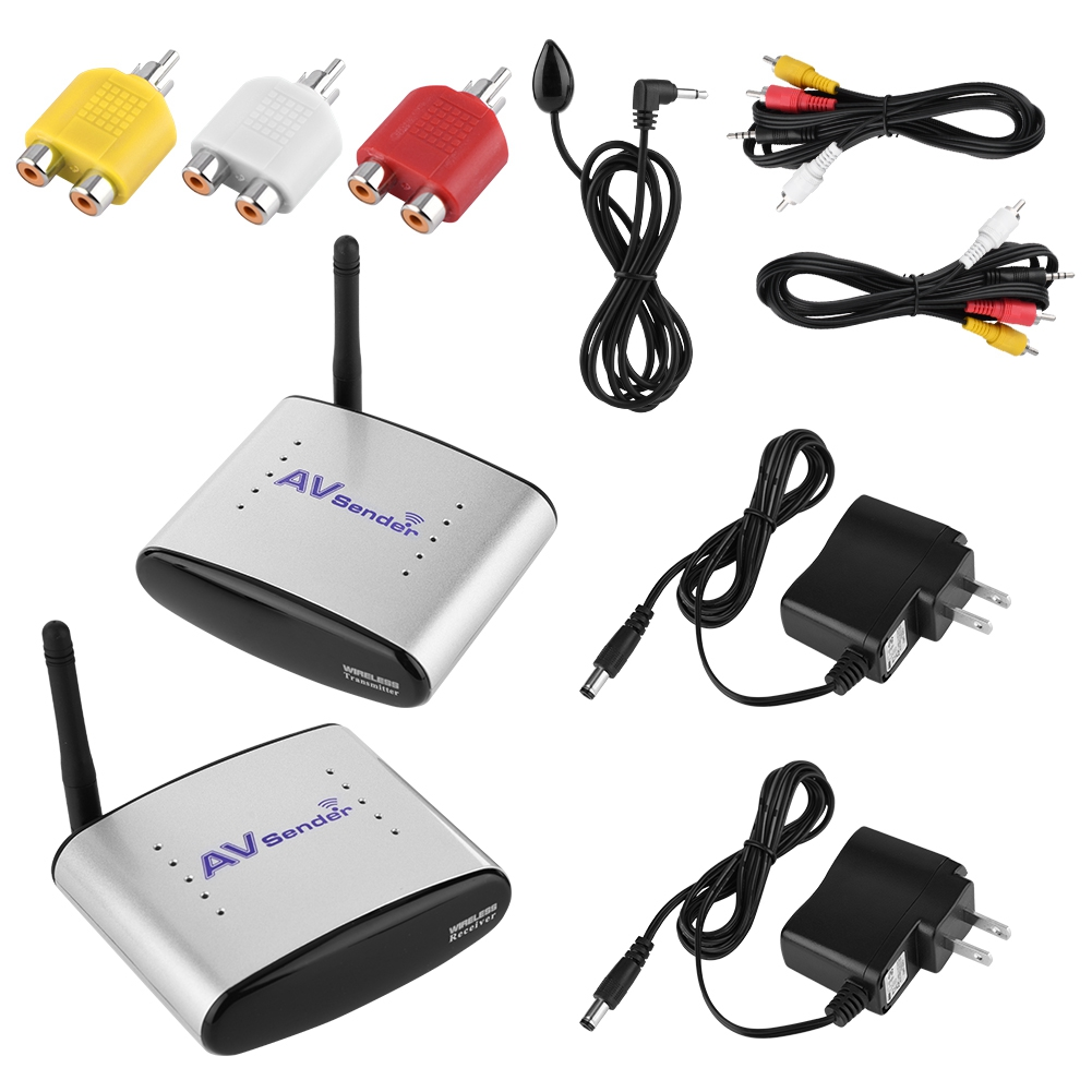 58ghz Av Sender Transmitter Receiver Wireless Ir Extender Dvd Video Audio 5 8ghz