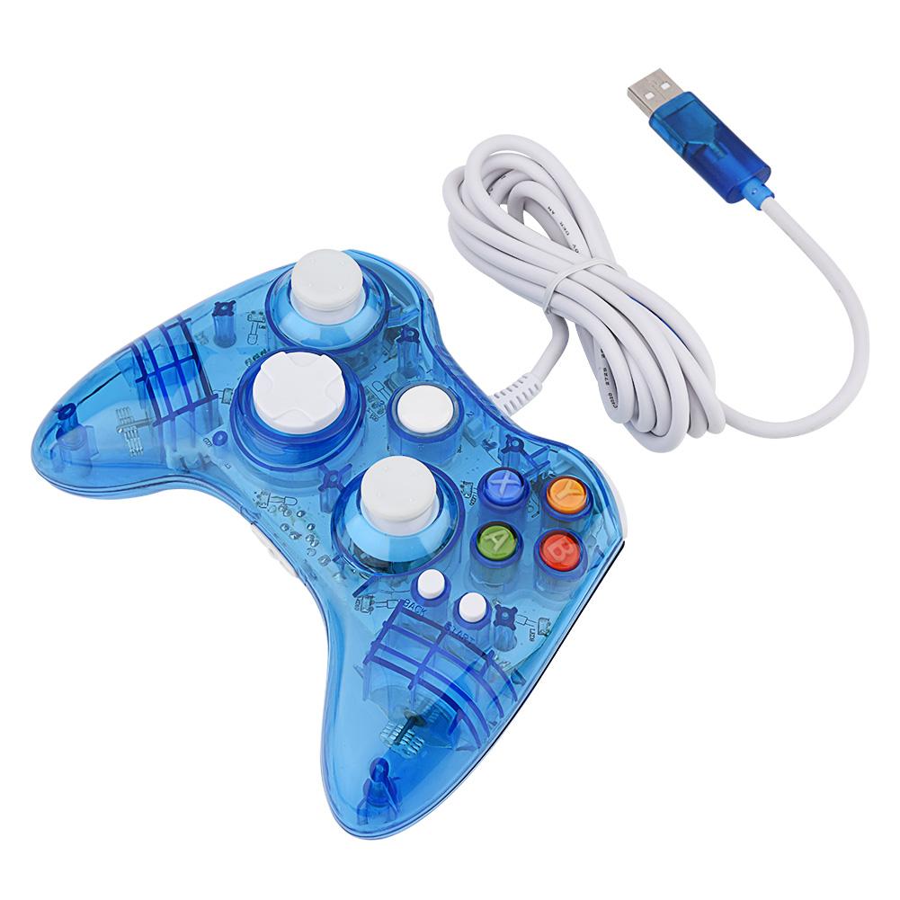 Wireless / USB Wired Transparent Game Controller Gamepad Joystick ...