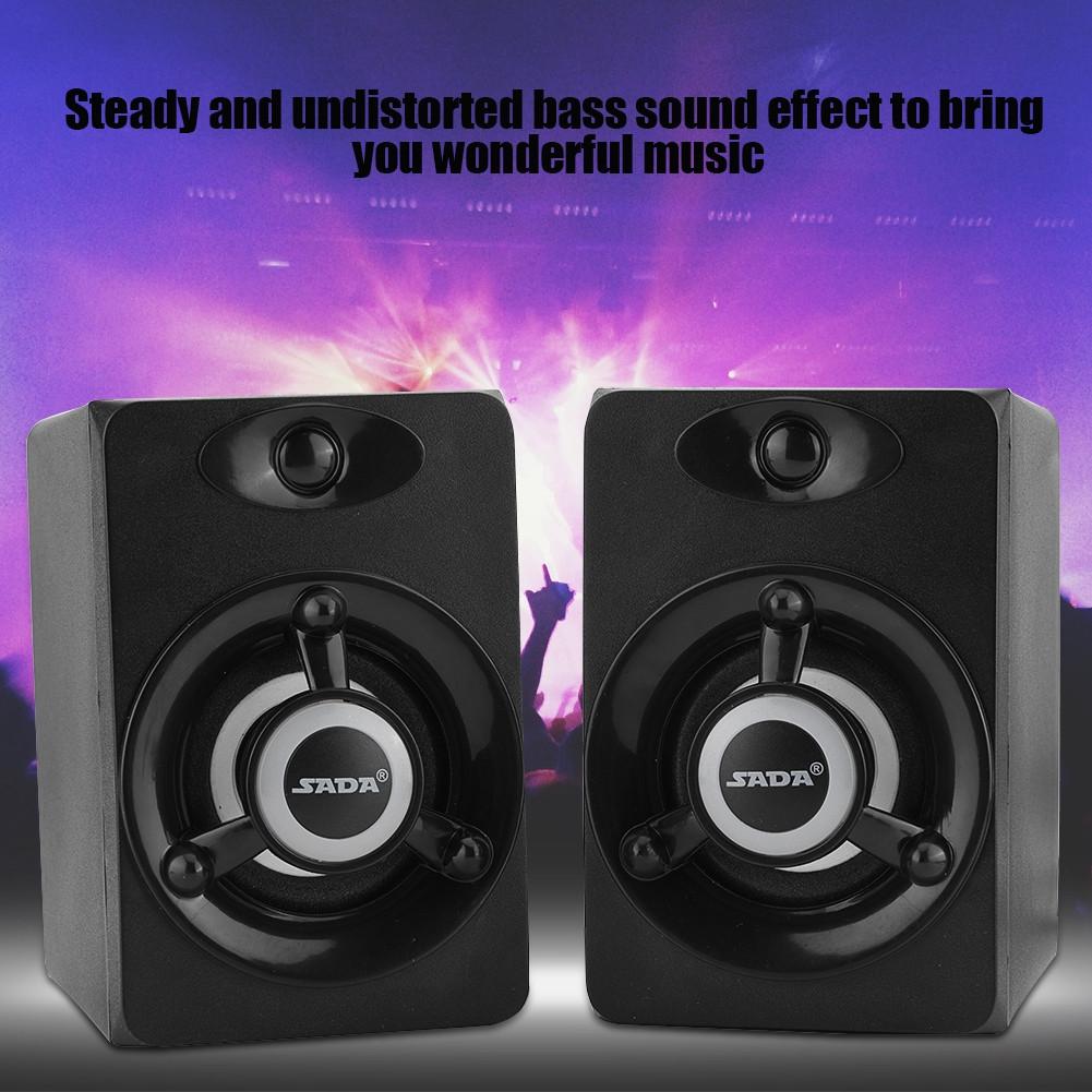 SADA-Bluetooth-Computer-Speaker-Desktop-Laptop-PC-Stereo-Subwoofer-Multimedia thumbnail 31