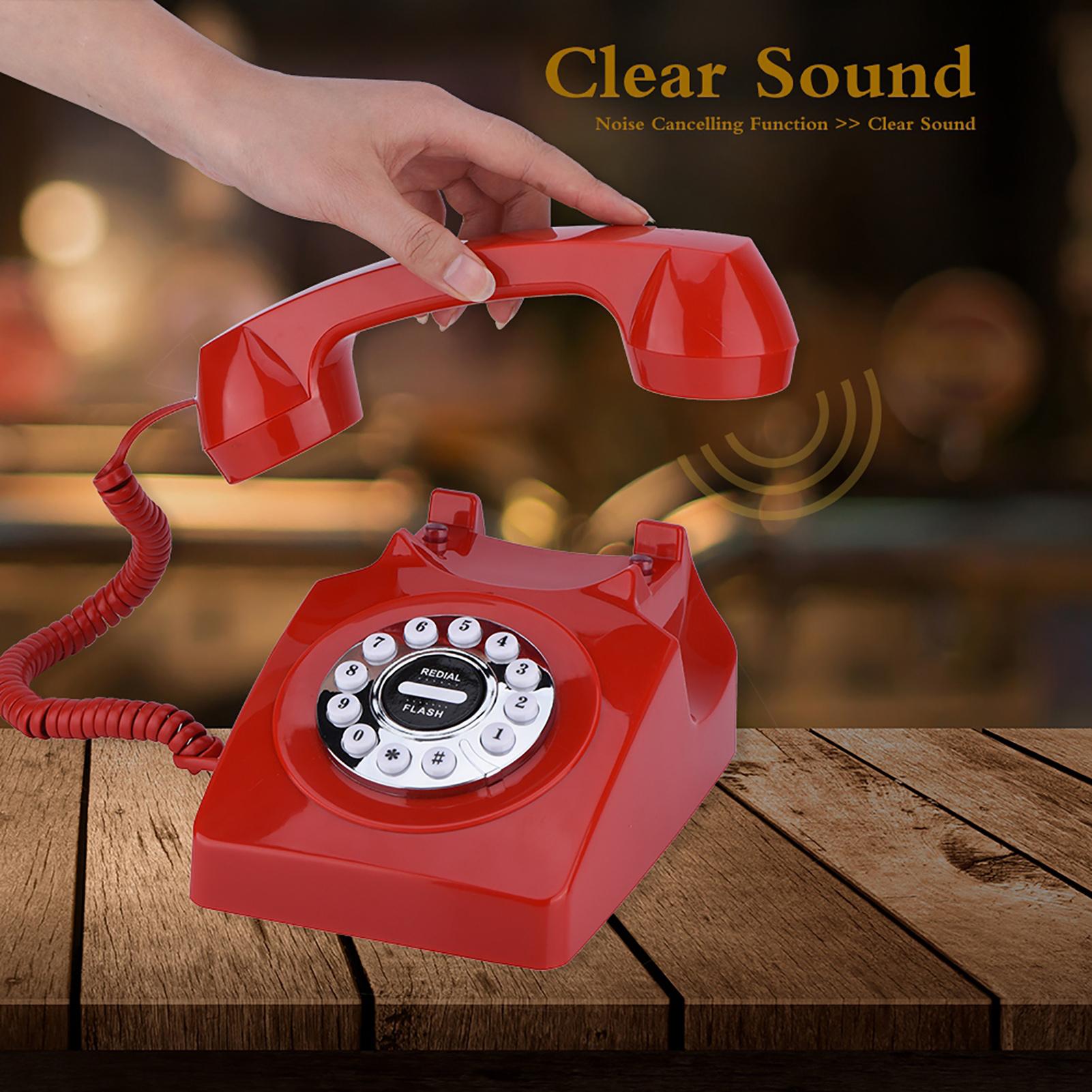 Rotary-Disc-Retro-Phones-Old-Retro-Vintage-Telephone-Home-Desktop-Landline-Phone thumbnail 10