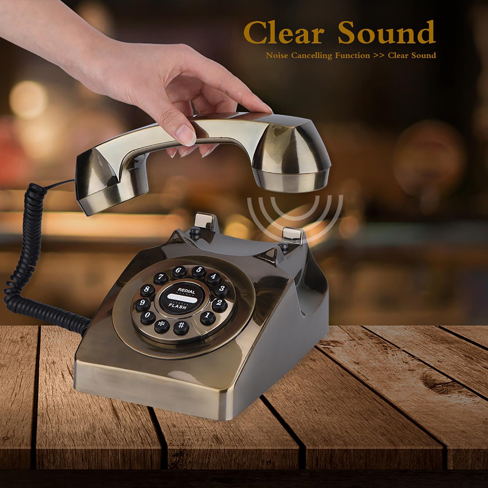 Rotary-Disc-Retro-Phones-Old-Retro-Vintage-Telephone-Home-Desktop-Landline-Phone thumbnail 13