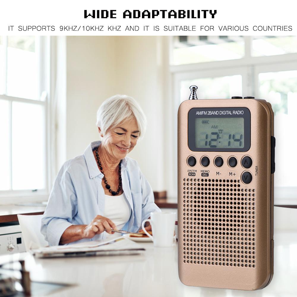Mini-Digital-Portable-Pocket-AM-FM-Radio-Dual-Band-Stereo-Receiver-w-Headphone