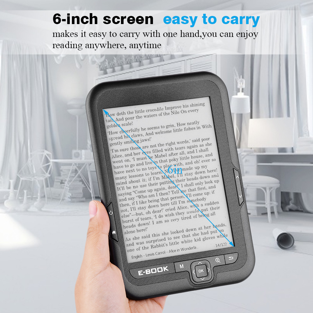 6-034-Portable-E-paper-E-ink-E-reader-E-book-Reader-Paperwhite-Touchscreen-4-8-16GB thumbnail 15