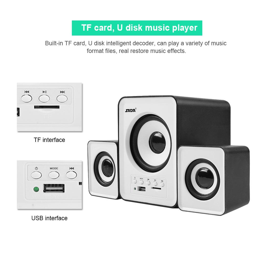 Mini-SADA-Computer-Speakers-2-1-USB-Bluetooth-Subwoofer-for-Desktop-PC-Laptop thumbnail 58