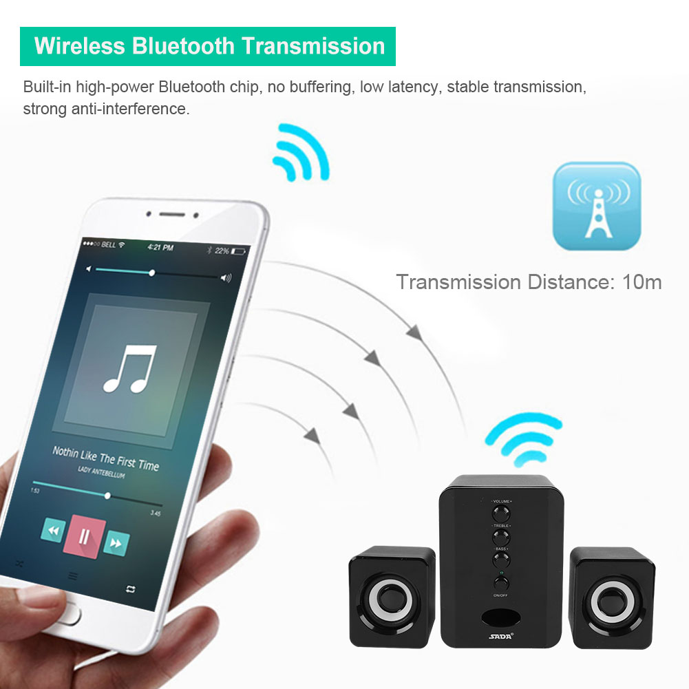 Mini-SADA-Computer-Speakers-2-1-USB-Bluetooth-Subwoofer-for-Desktop-PC-Laptop thumbnail 45