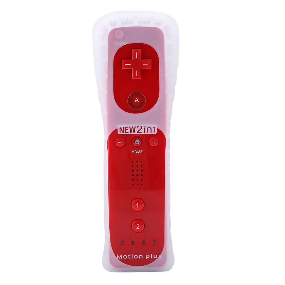 Built-in-Motion-Plus-Remote-Nunchuck-Controller-Cover-Case-for-Nintendo-Wii-WiiU miniature 82